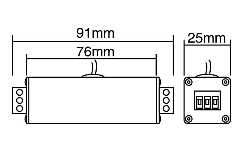 南京普天宁普防雷器产品尺寸图