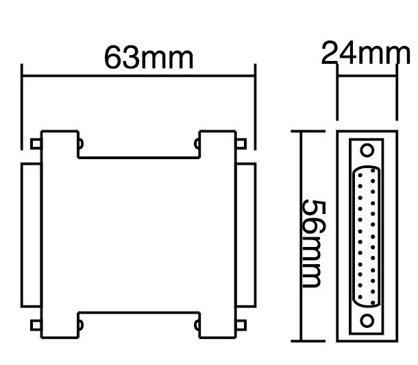 产品名称:CM系列D-SUB接口信号防雷器 产品型号:NPX01-CM/DB9(DB15、DB25) 用 途:适用于DB9接口V.24、RS232、RS485数据传输的精细保护,DB15接口V11、RS422数据传输的精细保护, DB25接口具有信号交换的V.24数据传输的精细保护,DB25接口V.11数据传输的闪电感应和静电感应精细保护